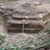 SW corner of kiln base