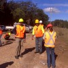Salvage of KE42 within the rail corridor, working with rail safety officer